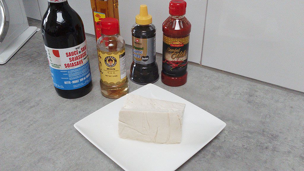 Marinated tofu ingredients