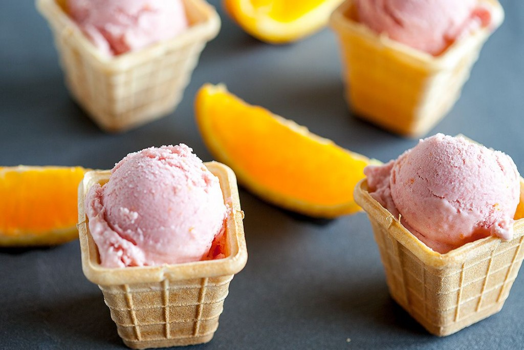 Rhubarb orange ice cream