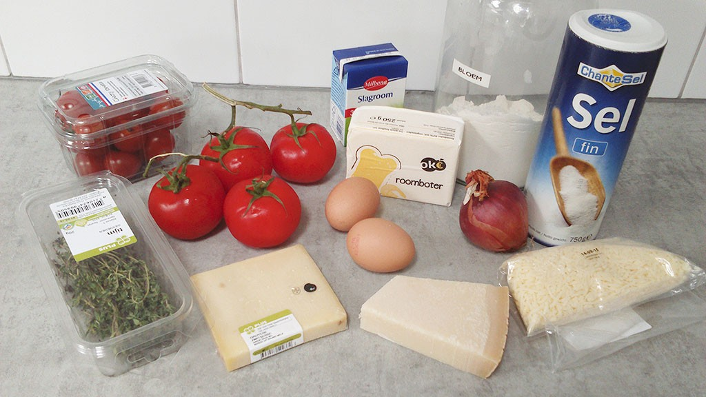 Tomato pie ingredients 1024x576 - Tomato pie