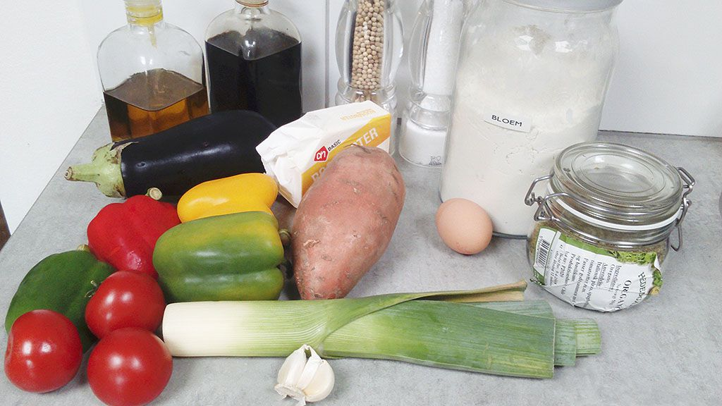 Vegetarian quiche ingredients