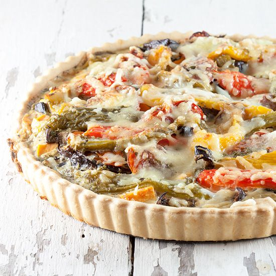 Vegetarian quiche square - Vegetarian quiche