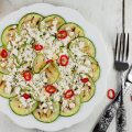 Zucchini and feta salad