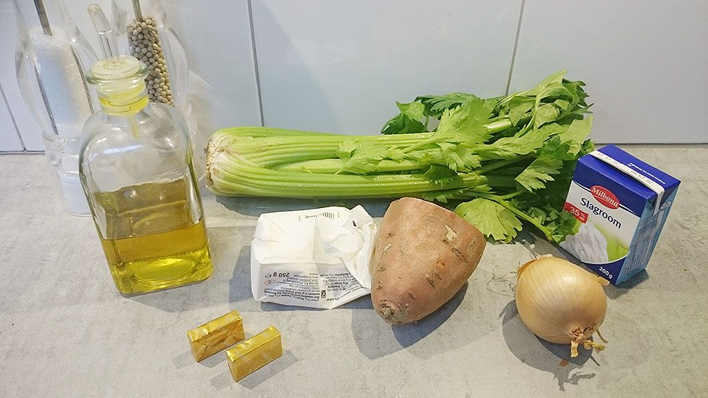 Celery soup ingredients