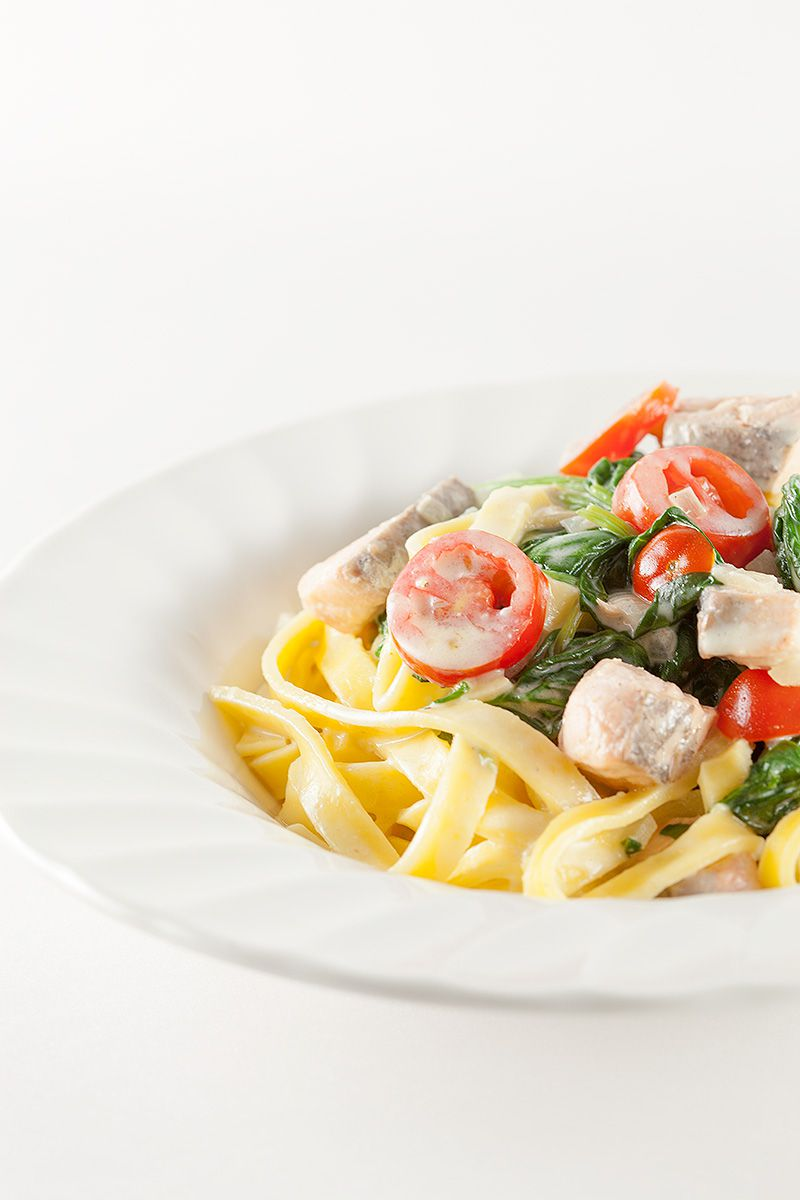 Creamy salmon and spinach tagliatelle 2 - Creamy salmon and spinach tagliatelle
