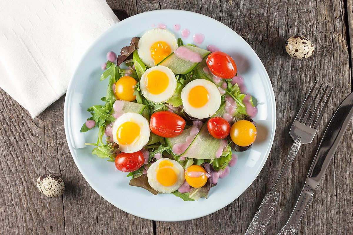 Quail egg salad - 10 favorite spring salads