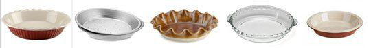 Pie baking dishes