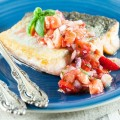 Baked salmon with strawberry salsa 120x120 - Salmon baked in foil