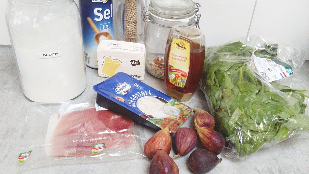 Figs pie ingredients - Figs pie