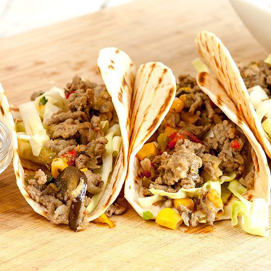 Ground beef tacos square - Ground beef tacos