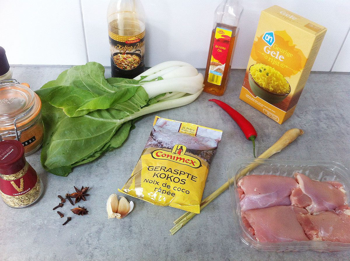 Oven-baked coconut chicken thighs ingredients