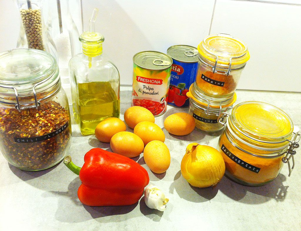 Shakshuka ingredients - Shakshuka