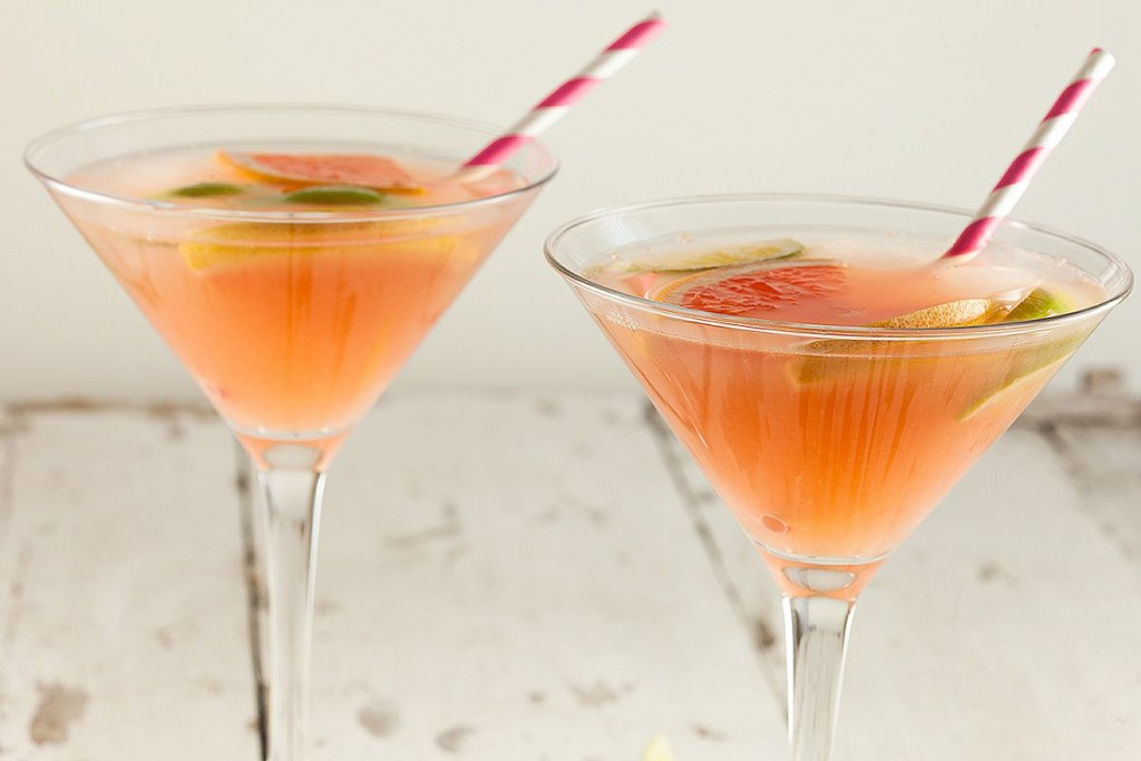 Spicy grapefruit cocktail