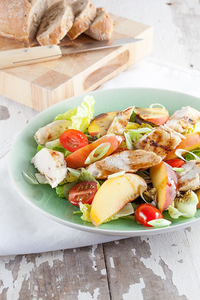 Peach and chicken salad 2 - Peach and chicken salad