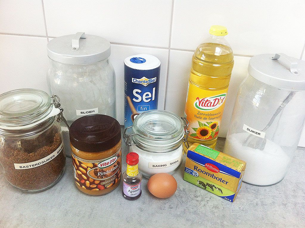 Peanut butter cookies ingredients