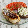 Turkey breast with stuffed mushroom 120x120 - Grilled turkey breast with blood orange dressing