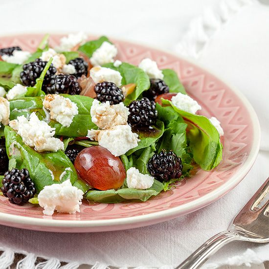 Wild blackberry salad