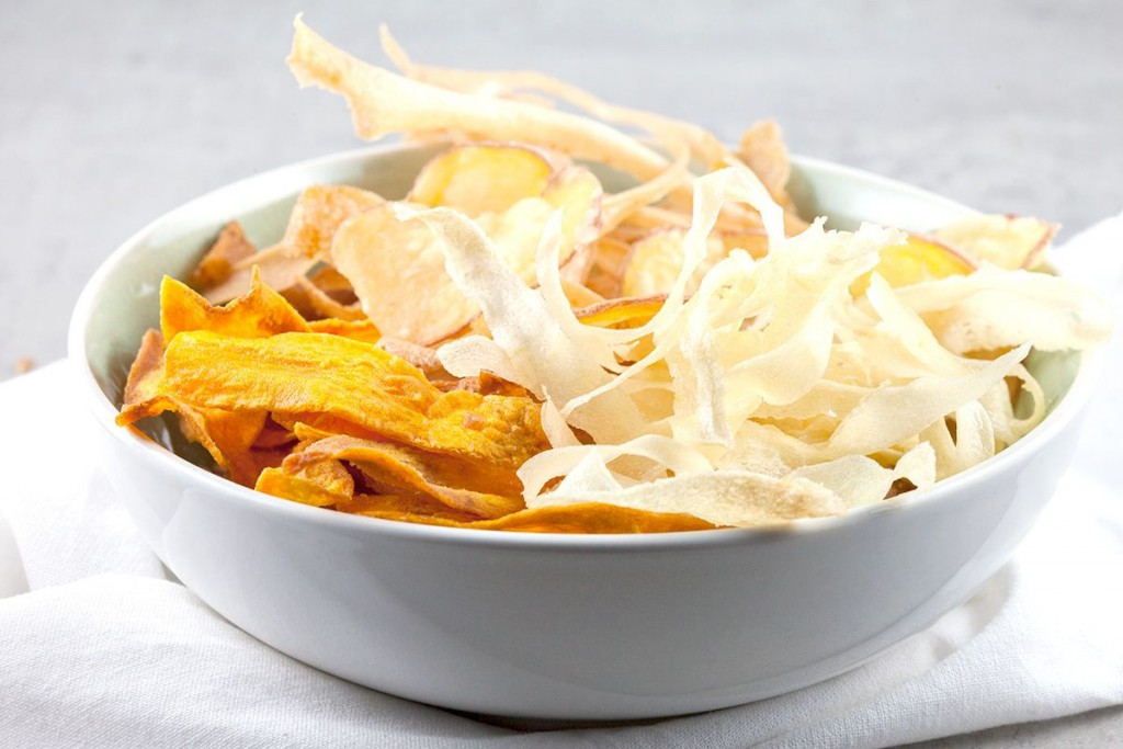 Baked vegetable crisps