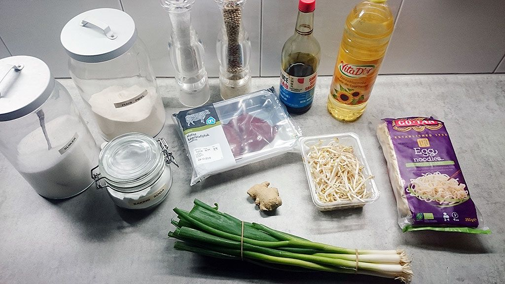 Beef chow noodles ingredients