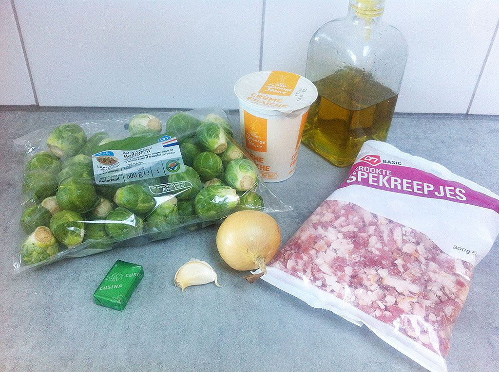 Brussels sprouts soup ingredients - Brussels sprouts soup