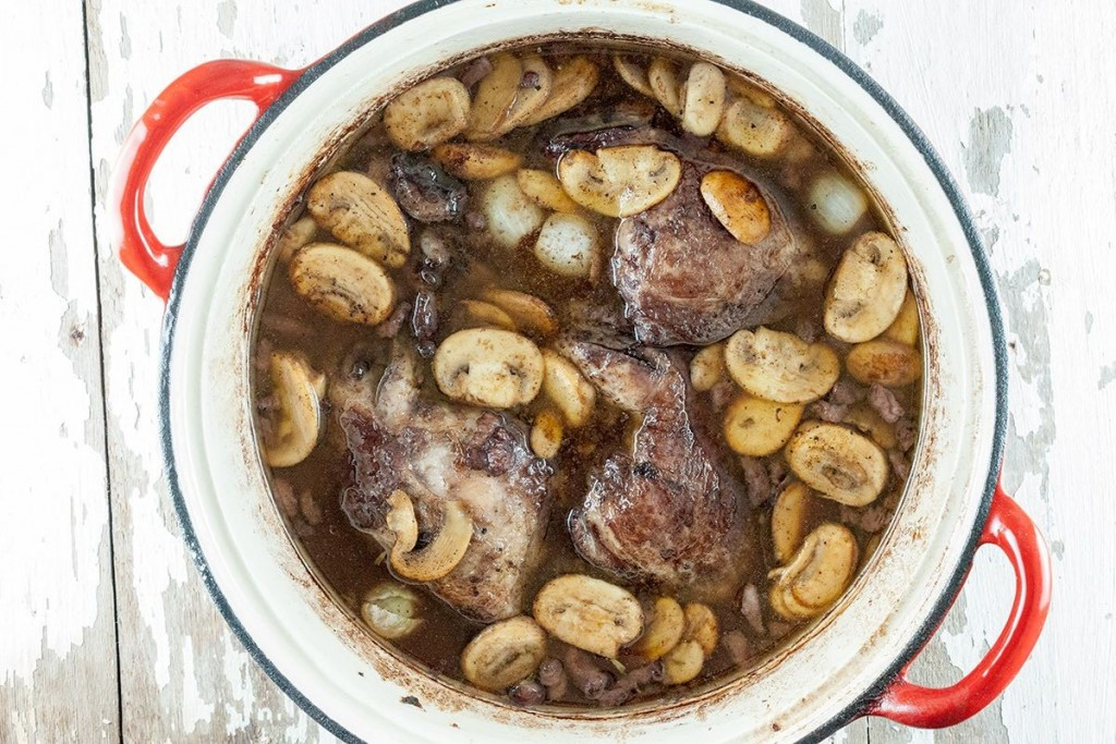 Classic coq au vin