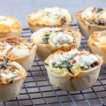 Mini quiches 120x120 - 4 ways to make deviled eggs