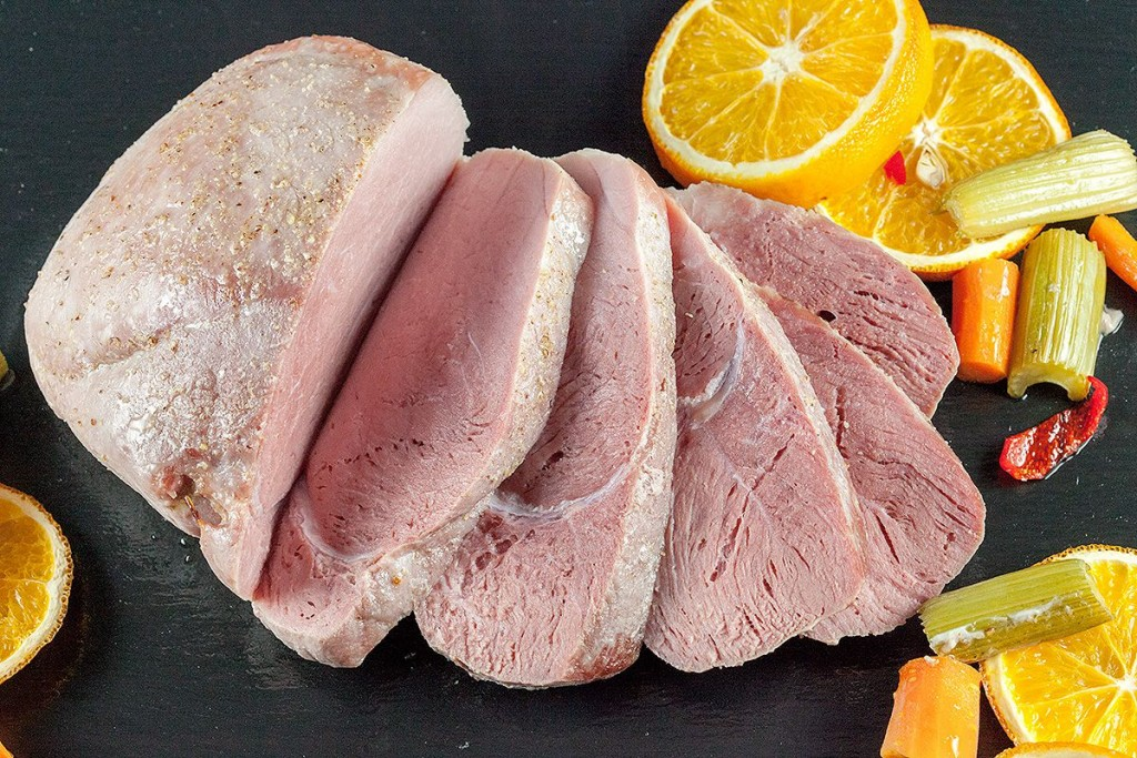 Orange baked ham