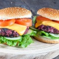 Roasted red beet burger