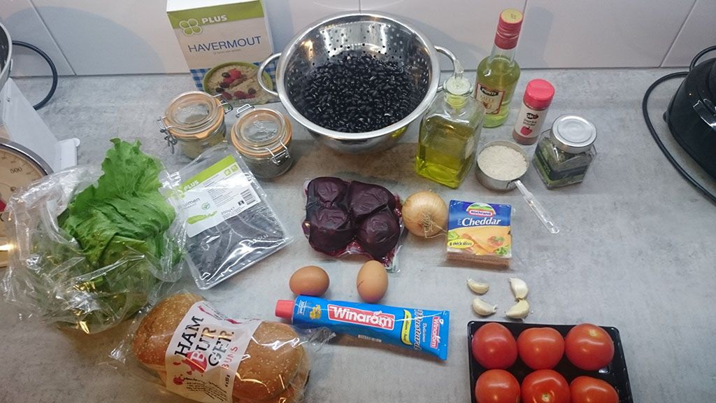 Roasted red beet burger ingredients