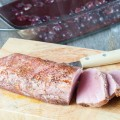 Seared pork tenderloin with roasted grapes
