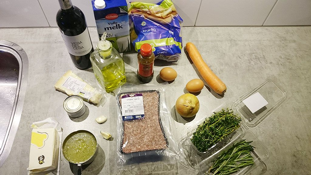 Gordon Ramsay's Shepherd's pie ingredients