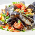 Spanish mussels in chorizo and wine sauce 120x120 - Paella