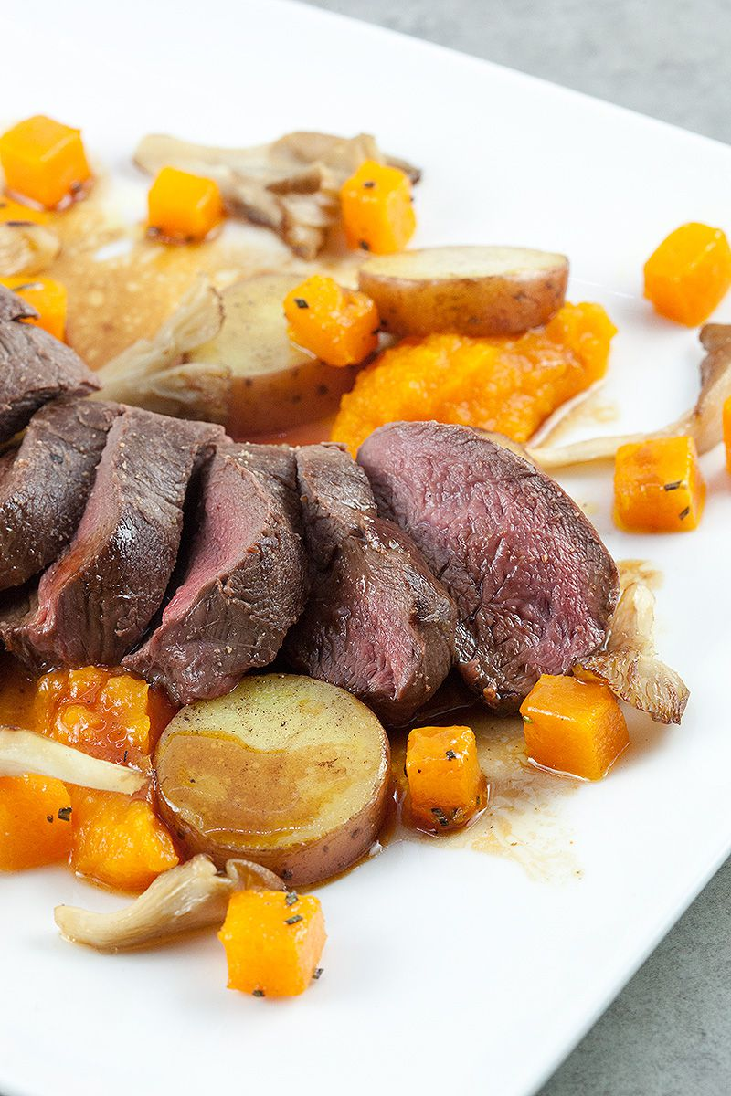Venison with roseval potatoes and pumpkin 2 - Venison with roseval potatoes and pumpkin