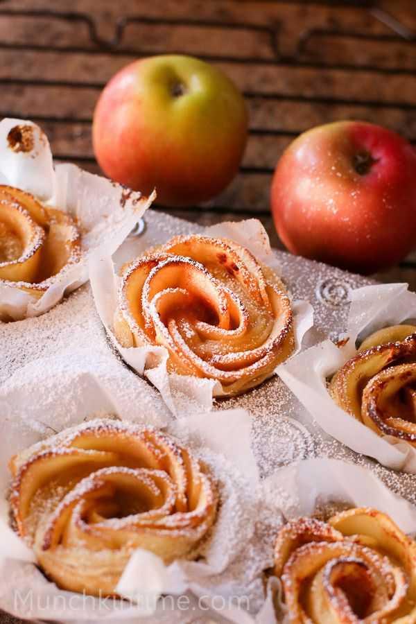 001 Apple Roses Dessert Recipe www.munchkintime.com 12 - 100 best Thanksgiving recipes for 2015 - Desserts