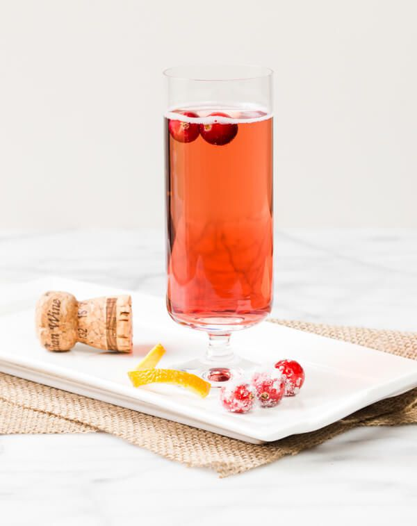 Cranberry orange prosecco cocktail