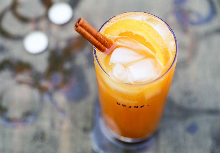 Pumpkin Beertail with Tequila and Spiced Rum