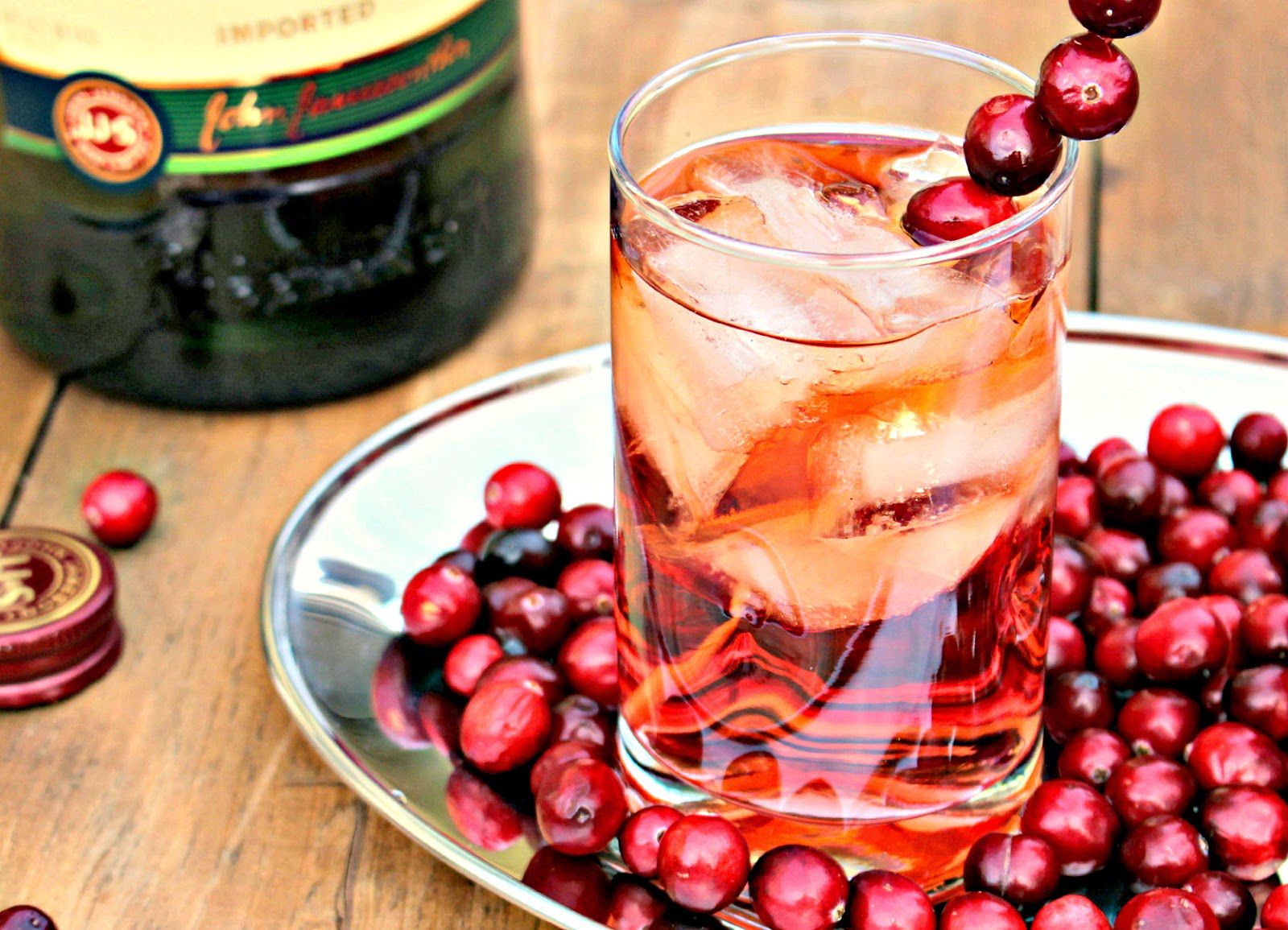 Jameson and cranberry cocktail