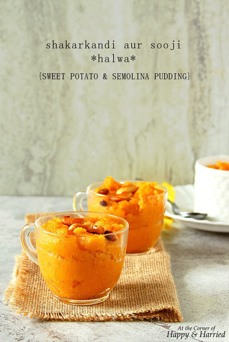 Sweet potato and semolina pudding