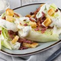 Iceberg quarters with grilled bacon and croutons 120x120 - Celery root soup with bacon fat and croutons