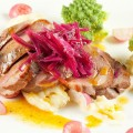Juicy duck breast and romanesco 120x120 - Pan-fried duck breast with creamed cabbage