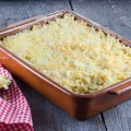 Oven baked macaroni and cheese 120x120 - Escarole oven dish with ham and cheese
