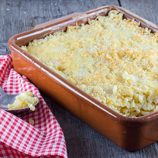 Oven baked macaroni and cheese square - Oven-baked macaroni and cheese