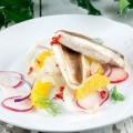 Pan fried gurnard salad 120x120 - Cod and apple salad