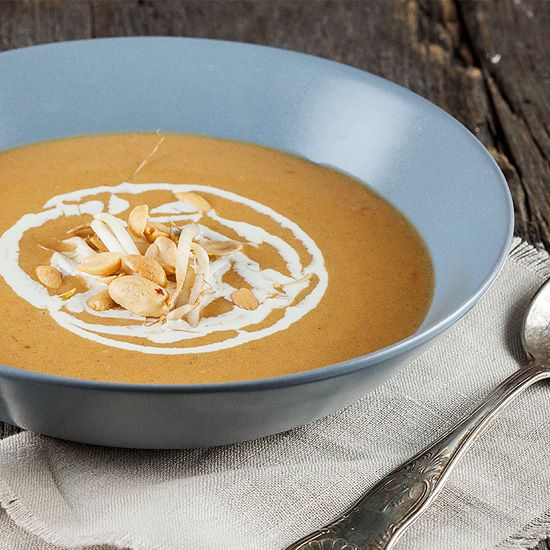Spicy peanut soup square - Spicy peanut soup