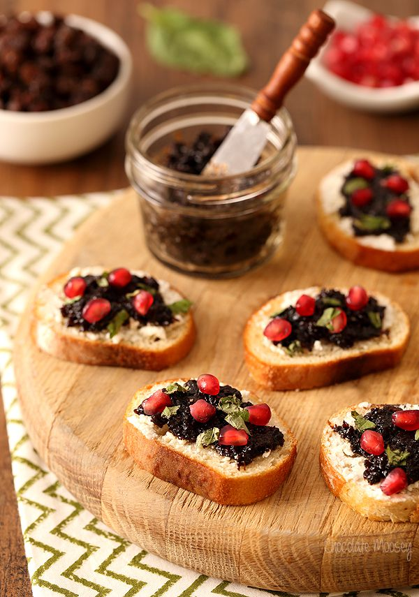 100 best christmas recipes for 2015 appetizers raisin jam and goat cheese crostini - Best Christmas Appetizers