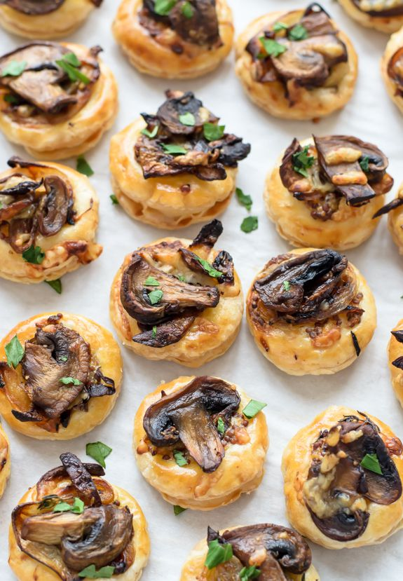 100 best christmas recipes for 2015 appetizers mushroom puff pastry - Best Christmas Appetizers