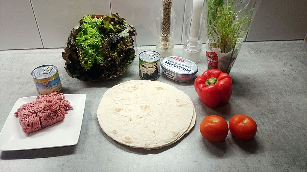Beef breakfast burrito ingredients