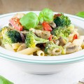Broccoli pesto pasta 120x120 - Pasta and broccoli bake