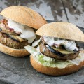 Lamb burger with truffle mayonnaise 120x120 - Slow cooked boneless leg of lamb