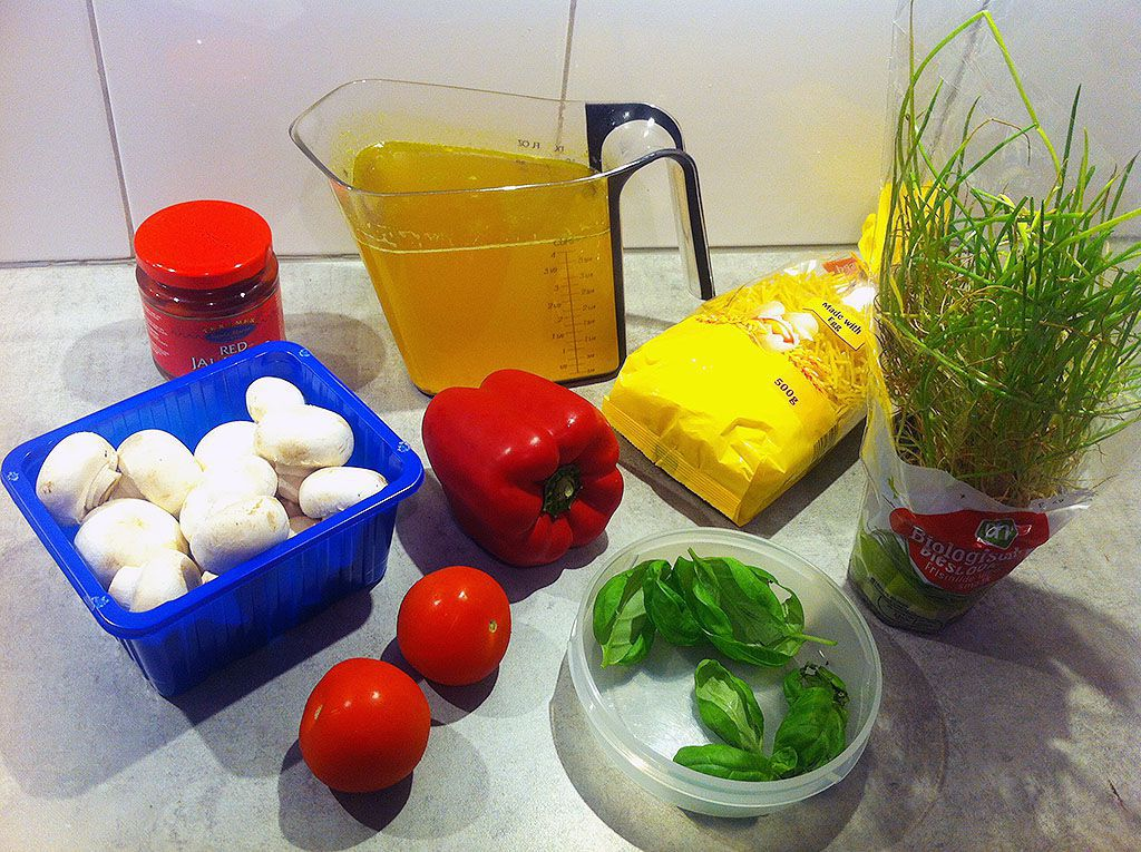 Paprika soup ingredients