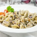 Pasta with truffle and red onion 120x120 - Creamy chicken pasta with truffle